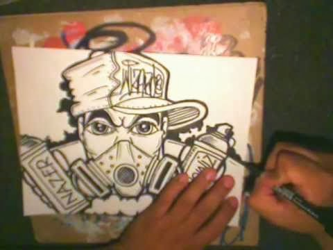 Graffiti Character Gas Mask