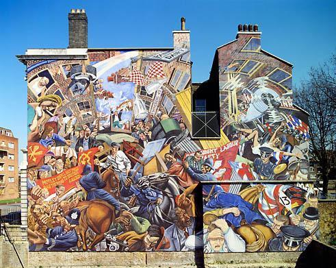 Art and architecture mainly the very ugly side of for Battle of cable street mural