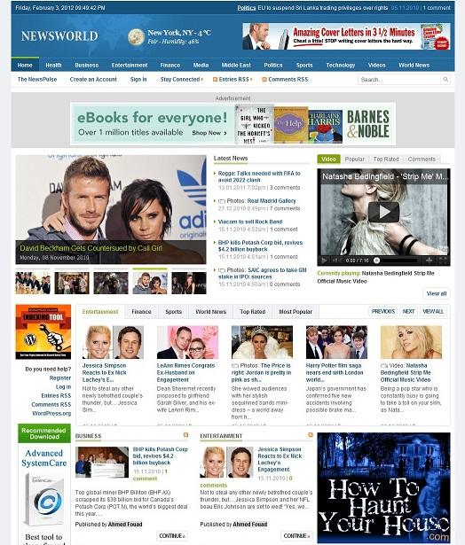 News Wordpress Theme - chal bay