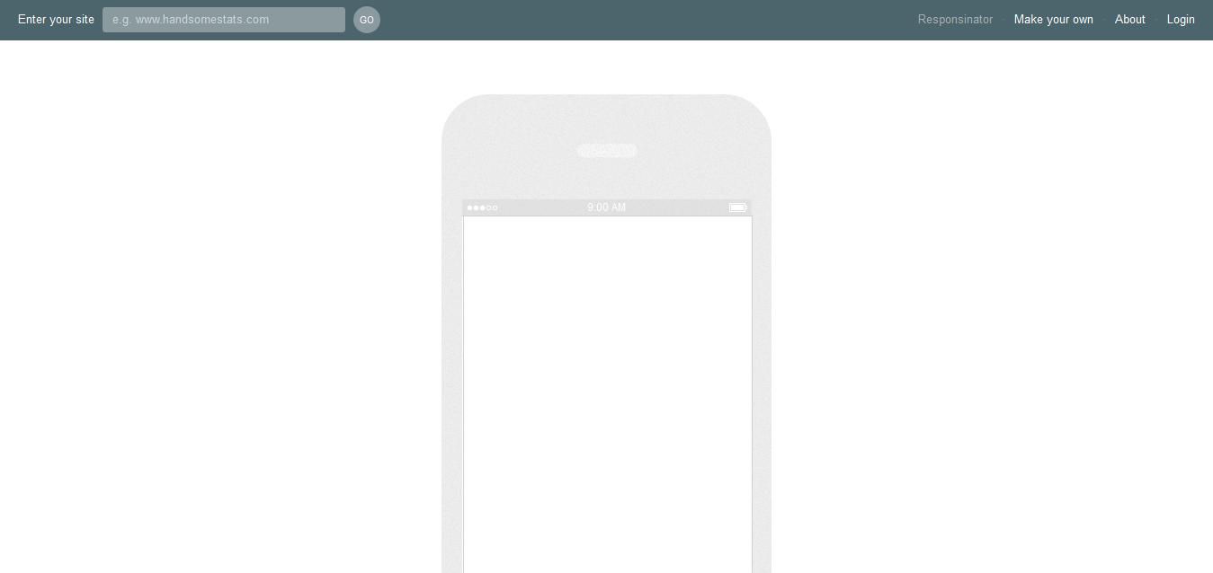 Responsinator - Tool for responsive design testing