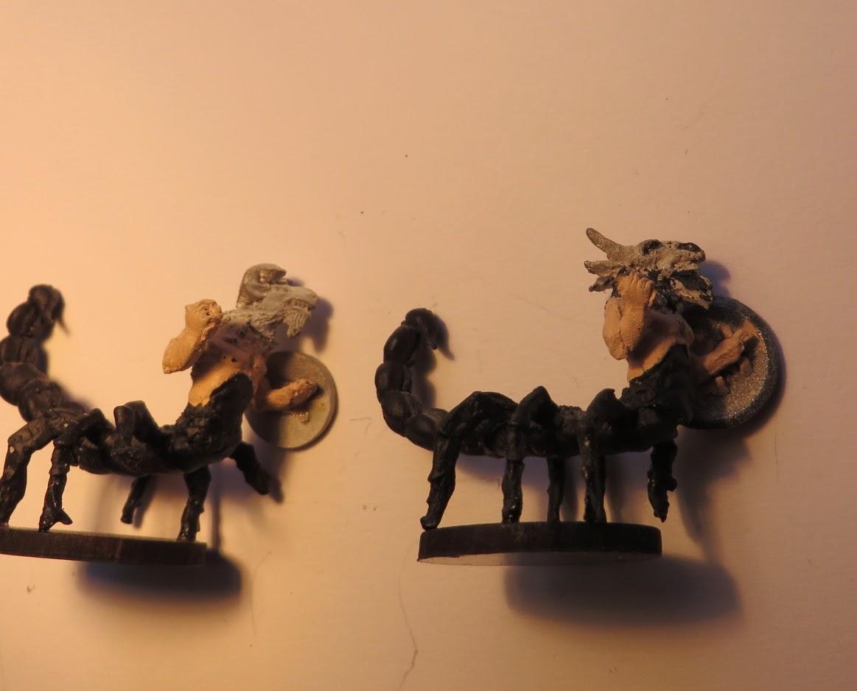 Runequest, old, miniature, oop, Scorpion, Man, converted