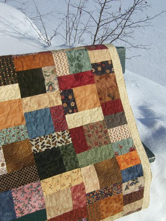Easy Quilt Patterns For Guys : Tamarack Shack: Cozy Flannel Quilt