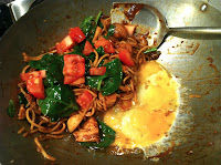 Mamak Mee, noodles, fried, spicy, Malaysian, eggs, wok