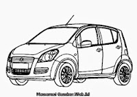 Mewarnai Gambar Mobil Suzuki Splash