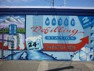 ice depot mural traditional signage dobell designs victoria vancouver island canada north america