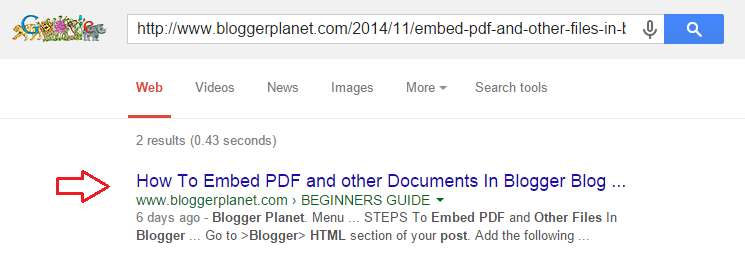 How to get your blog post index Super Fast in Google search