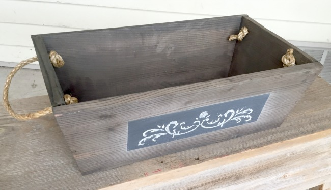 DIY Crate for home decor or planting