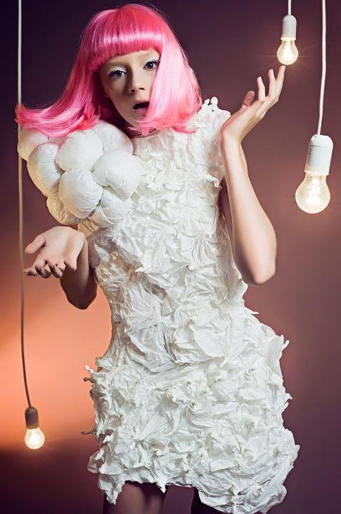 Paper fashion dresses | Futuristic style - Paulina Daniluk