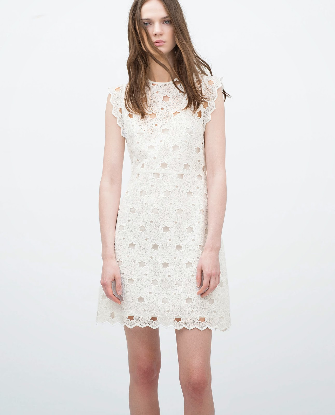 zara white dress