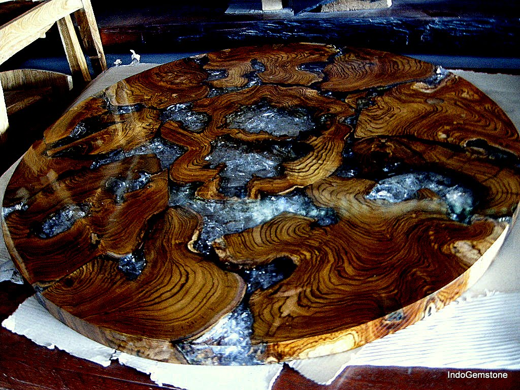 EPOXY RESIN RECLAIMED TEAK WOOD COFFEE TABLES IndoGemstone