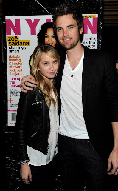 Tyler Hilton and Megan Park