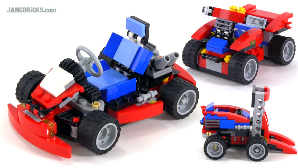 Lego Creator Red Go Kart All 3 Builds Set 31030