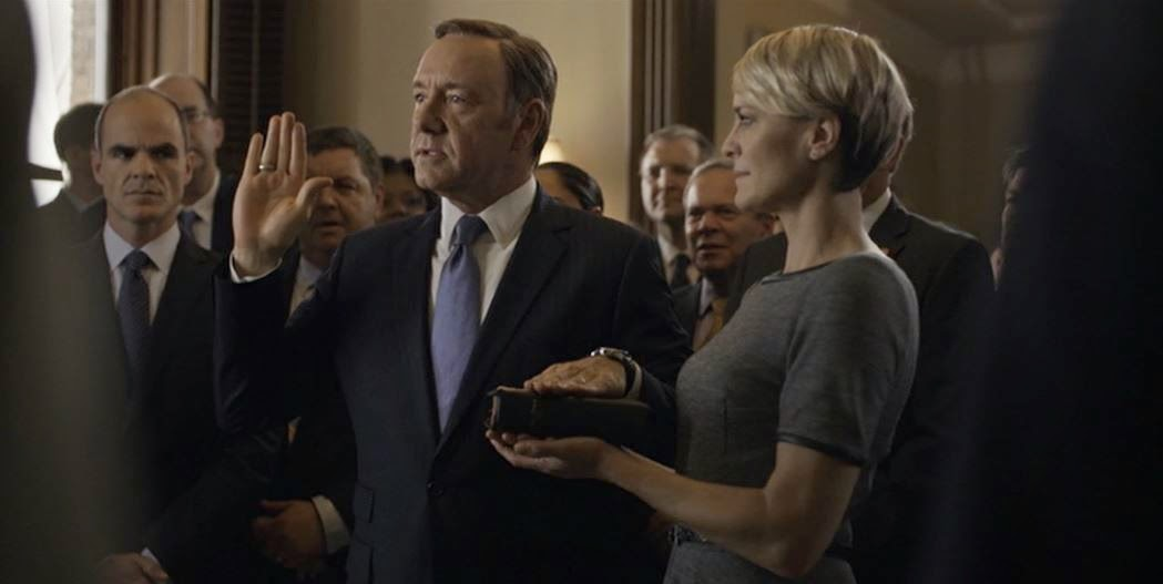 Frank Underwood becomes Vice President of the United States