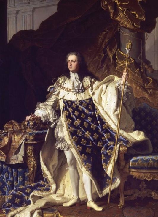 Retrato de Luis XV (1710,1774), Rey de Francia en 1715; según H. Rigaud.