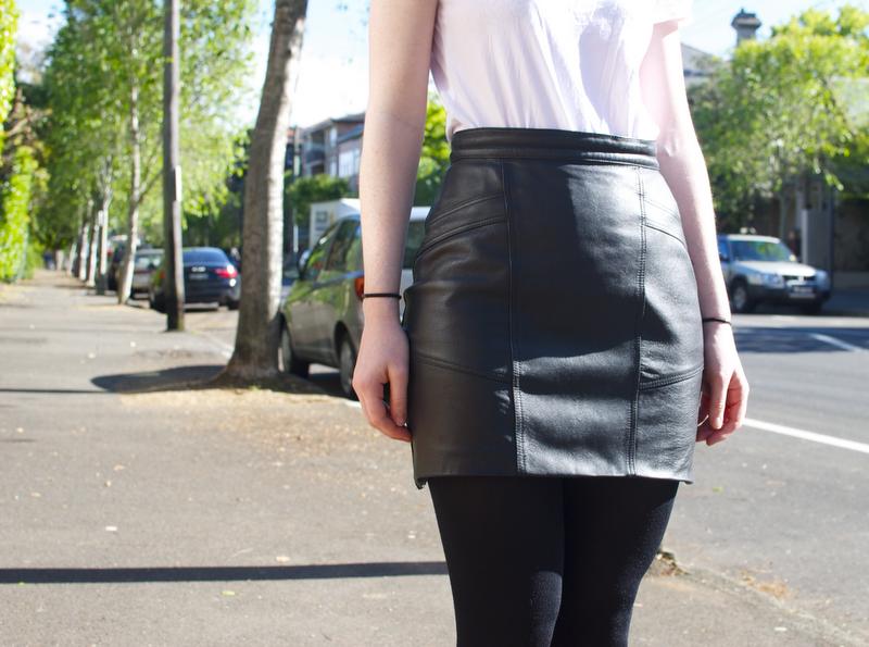 diy leather mini skirt a pair a spare