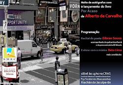"""gibran sousa apresenta seu recital """"irritmia"""" no lançamento do livro """"por acaso"""":"""