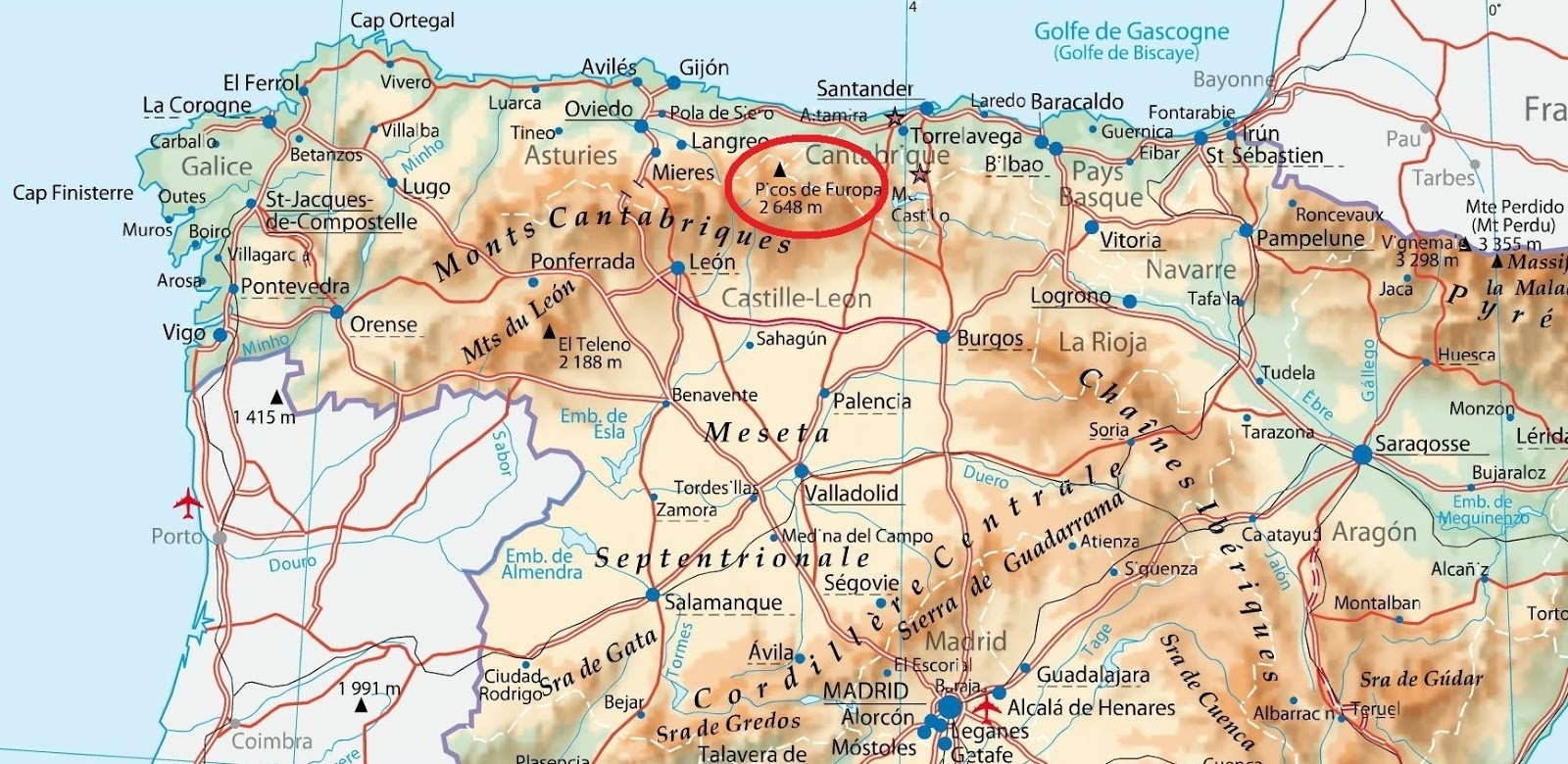 Carte Espagne Hd.Fugues Verticales Juillet 2015