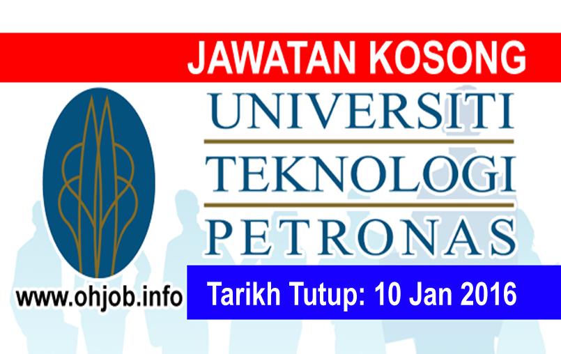 Jawatan Kerja Kosong Universiti Teknologi Petronas (UTP) logo www.ohjob.info januari 2016