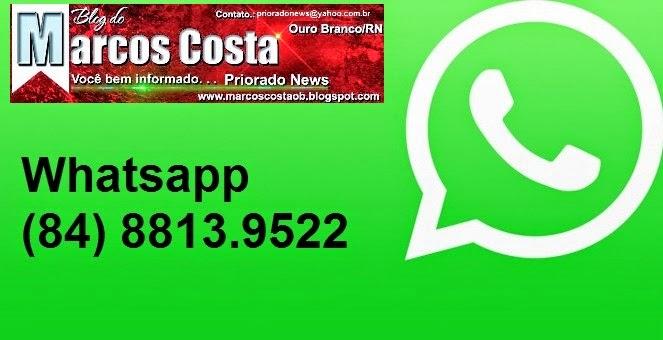 Mande sua denúncia, sugestão ou flagra através do WhatsApp.