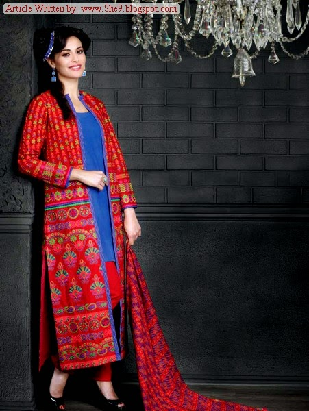 Latest Gul Ahmed Winter Khaddar Collection 2014