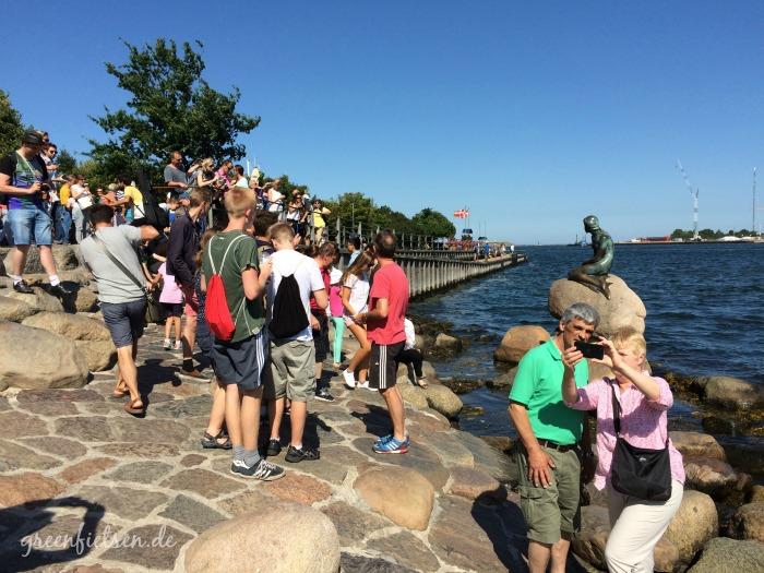 Touristenmagnet: Die Kleine Meerjungfrau in Kopenhagen