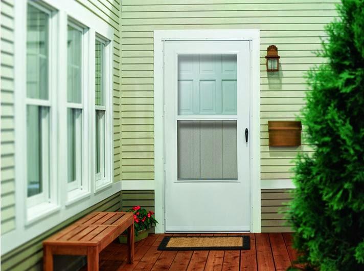 Modern White Storm door