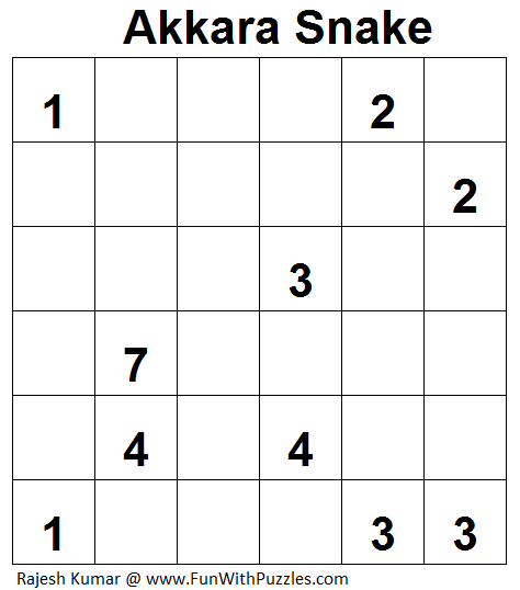 Akkara Snake (Logical Puzzles Series #3)