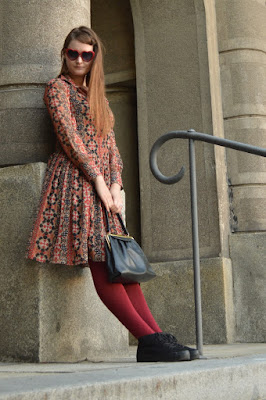 quaintrelle, georgiana, quaint, outfit, ootd, autumn colours, second hand