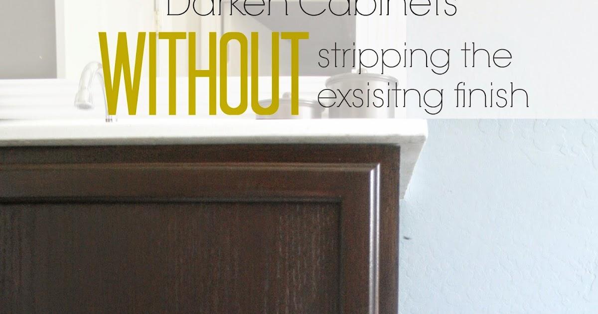 refinish kitchen cabinets stripping without pneumatic addict darken existing finish best way to strippi