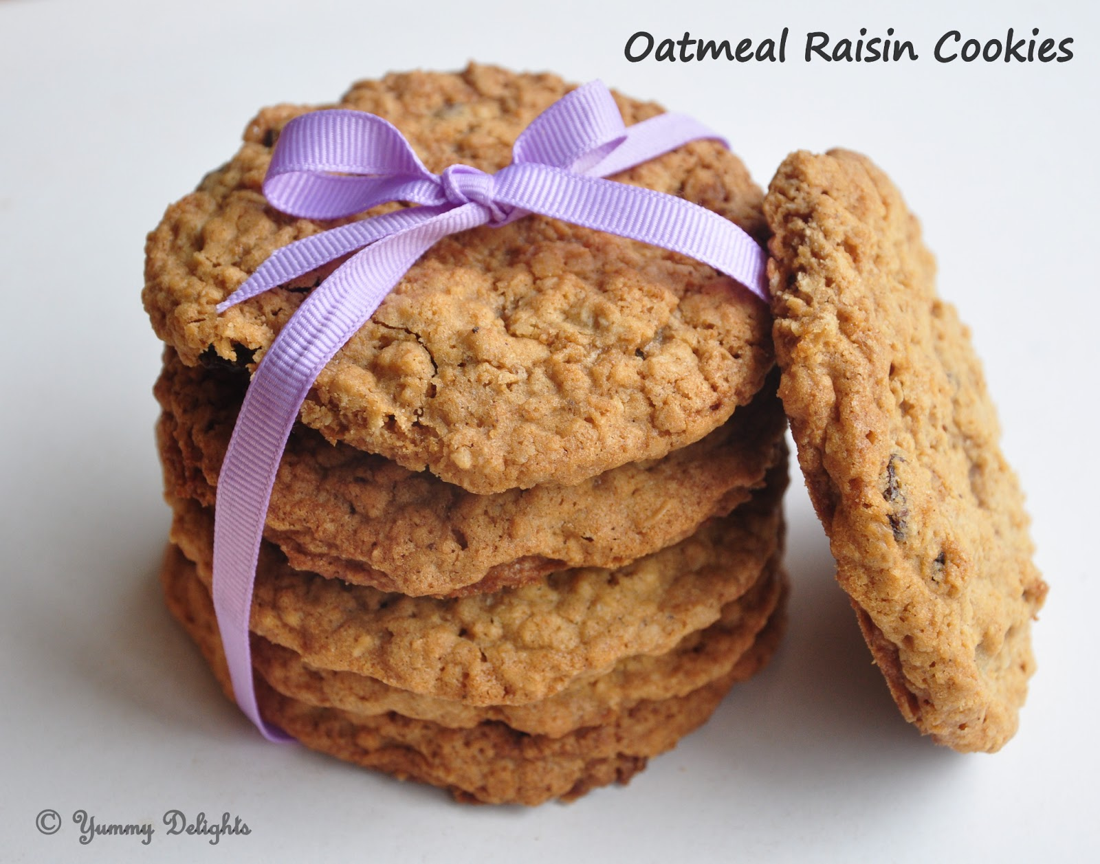 Chew this Thick Crispy Cookie baked with Oats , take a bite of Raisins ...