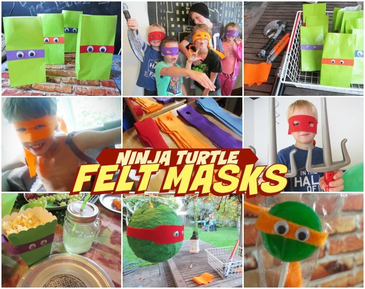 Ninja Turtle Masks from felt