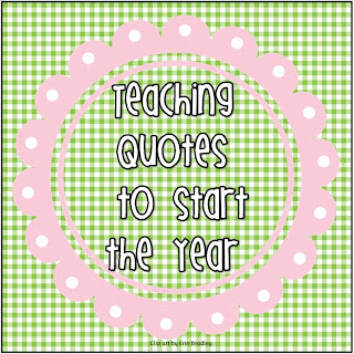 Teaching Quotes to Start a New