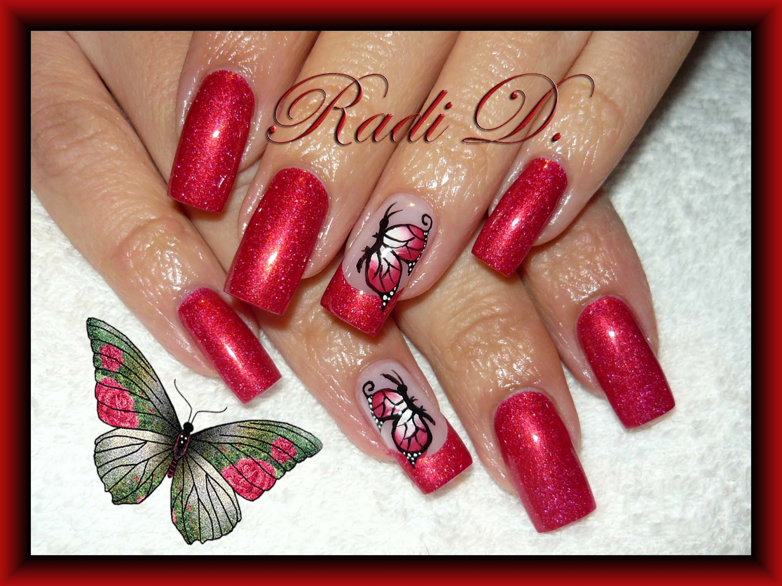 Its all about nails nail art butterfly nail art butterfly prinsesfo Gallery