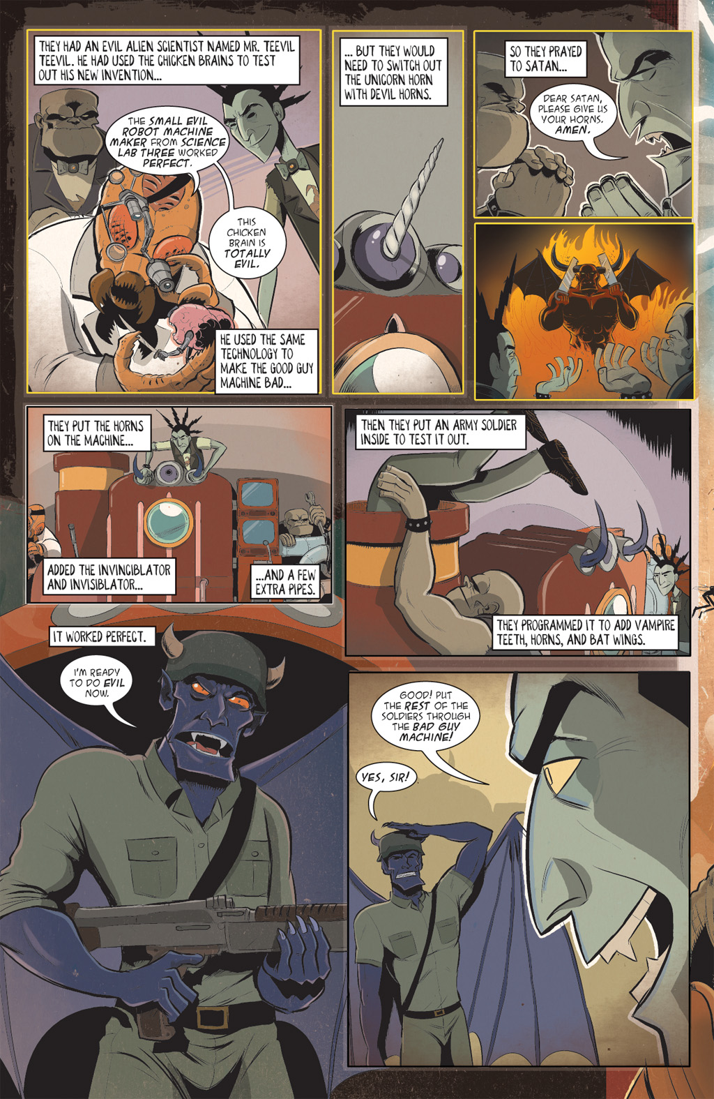 Read online Axe Cop: Bad Guy Earth comic -  Issue #2 - 4