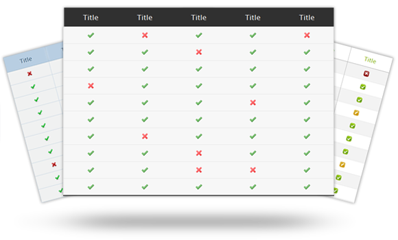 How to create html and css comparison tables in minutes for Beautiful table css
