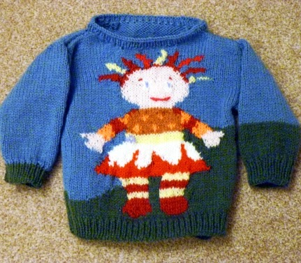 Frankie Doodles Upsy Daisy Knitting Chart Pattern For Childs Jumper