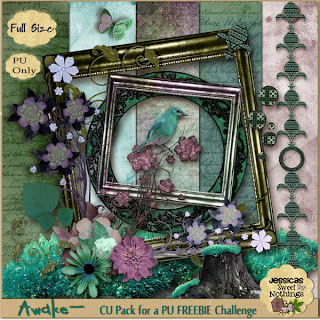"Free scrapbook ""Awake"" from Jessicas Sweet Nothings- Full Size"