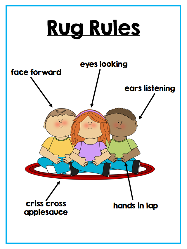 Colors and Kindergarten: Classroom Rules
