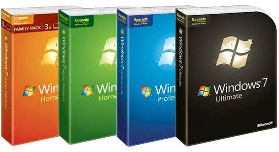 Perbedaan Antar Versi Windows 7
