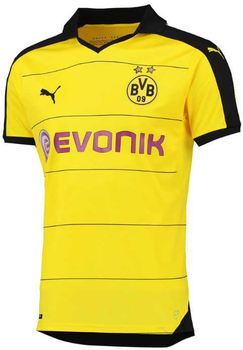Borussia Dortmund carries over the current Away Jersey to serve as the new Borussia  Dortmund 2015-2016 Away Jersey. 21b29d7b6