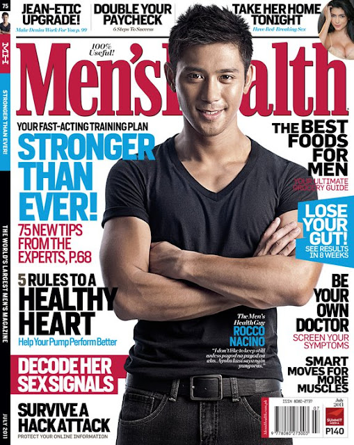 Rocco Nacino covers Men's Health Magazine