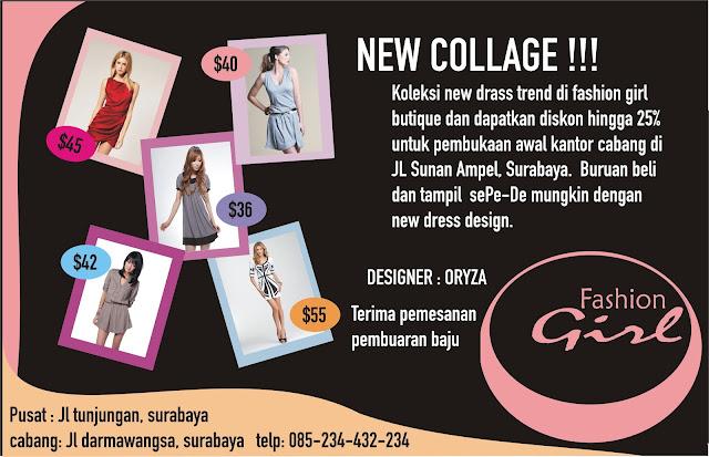 Download Contoh Brosur Bisnis Toko Baju Pakaian