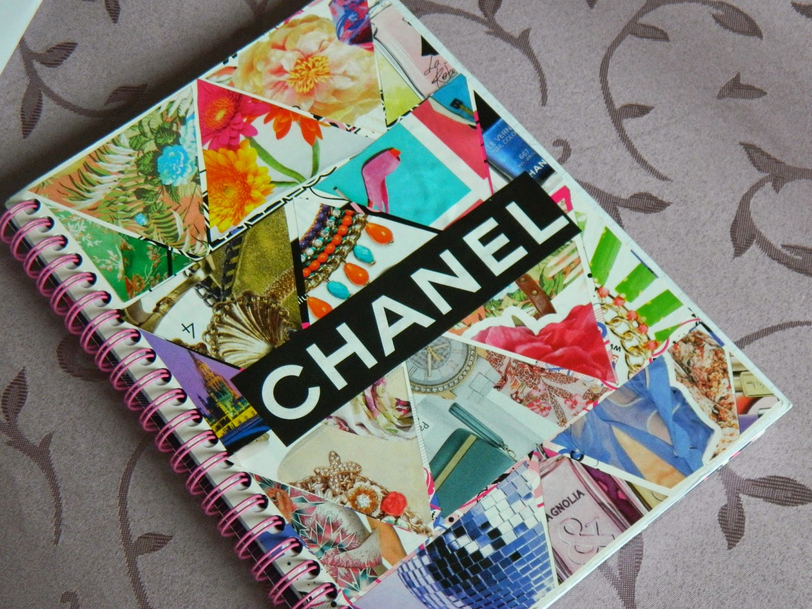 Glamcouture diy tumblr inspired notebook cover stickers for Back to school notebook decoration ideas