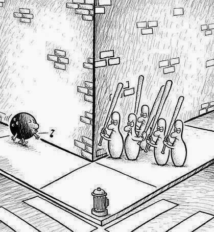 Kukalar ve Bowling karikatür