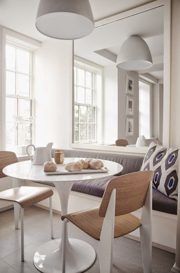 Octagon White Kitchen Table