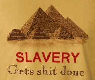 You're not a slave if you're properly paid...