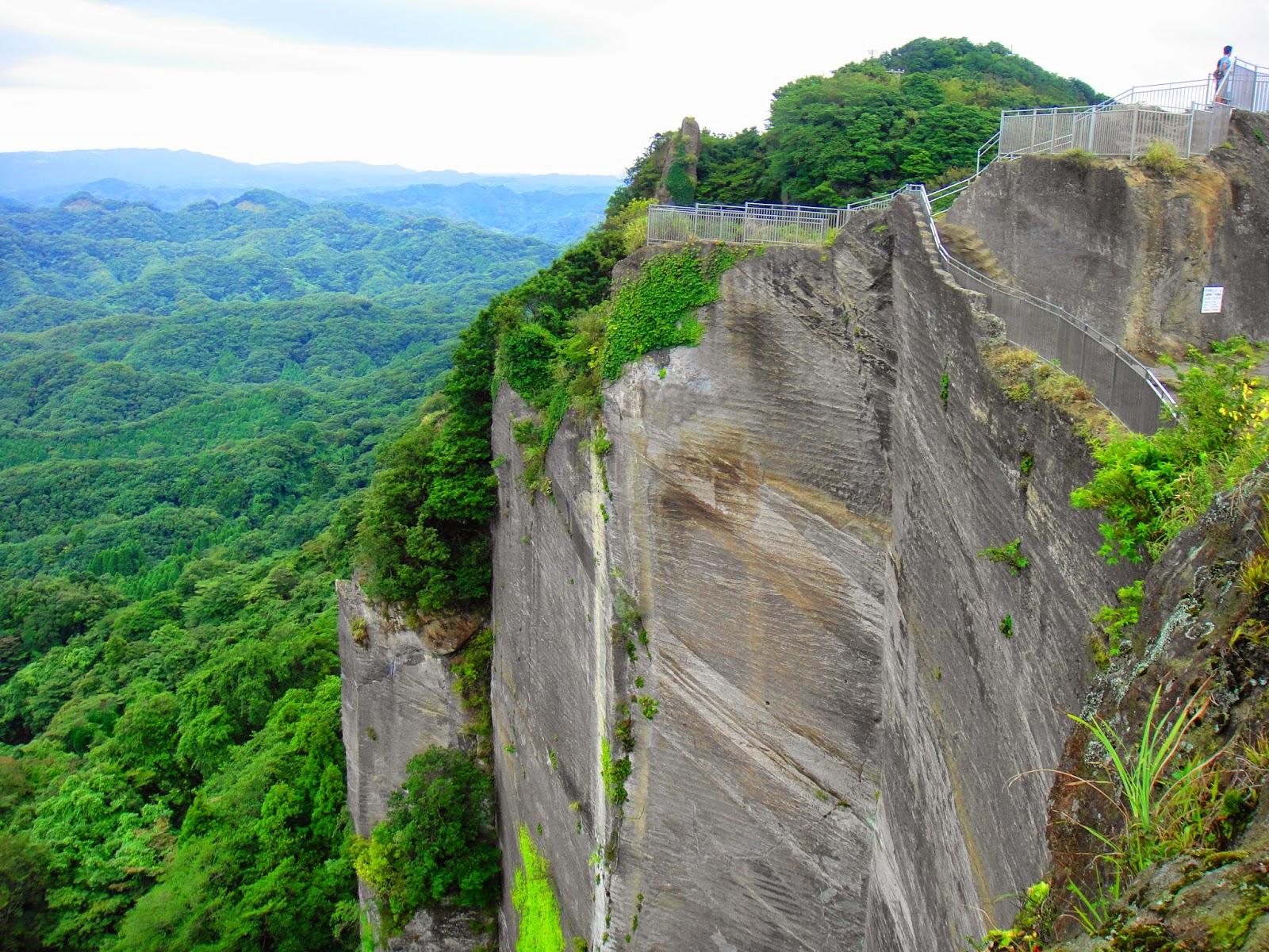 A deep ravine