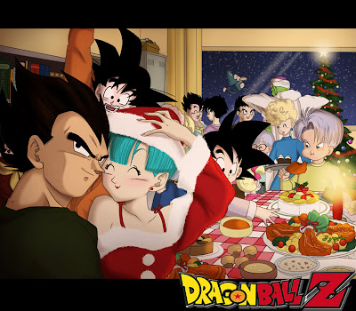 Dragon Ball Z Christmas Party Wallpaper 0002
