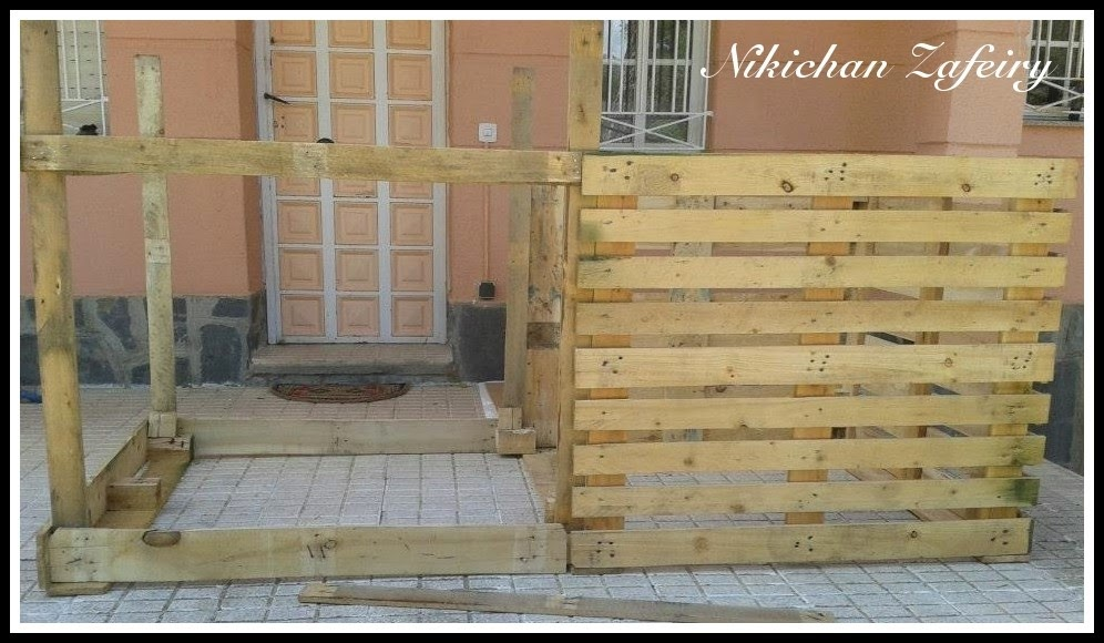 Huerto familiar en casa gallinero paso a paso de madera - Como hacer una casa con palets ...