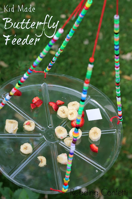 A butterfly feeder is easy to make and a great way for kids to learn about nature.